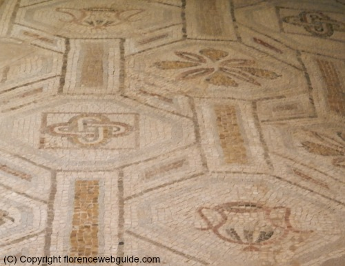 Close up of mosaic floor designs