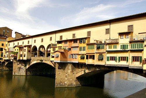 The Ponte Vecchio (Old Bridge) is one of the city's most popular sightseeing spots