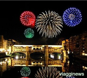Fireworks in Florence for the Festa di San Giovanni