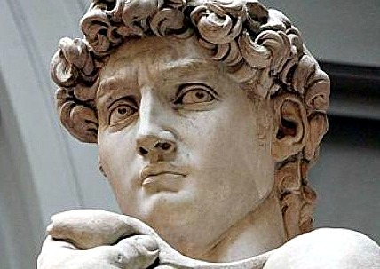 Michelangelo's most famous sculpture, David, can be seen at the Accademia Gallery