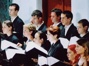 Choir singing at festival