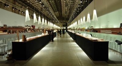 Food fair 'Taste' at Leopolda in Florence
