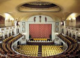 Elegant and romantic interior of the Odeon theater