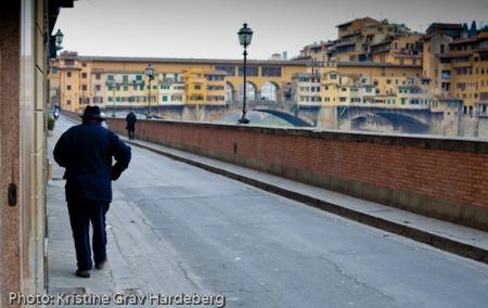 A winter morning near Ponte Vecchio