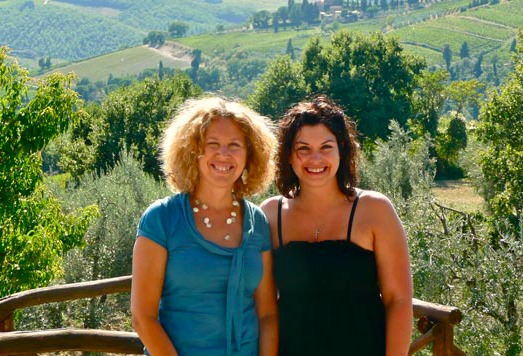 Qualified tour guide, Angela (on left), takes visitors out in the Chianti hills on personalized wine tours