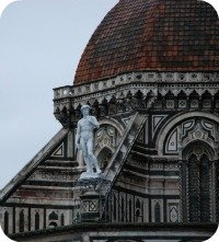 Statue of David - how David would have looked on Duomo buttress
