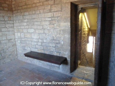 the 'alberghetto' prison cell in the Arnolfo tower