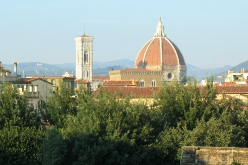 Fabulous views of the Duomo and Campanile di Giotto from the garden