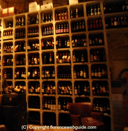 An enoteca has a wide choice of wines