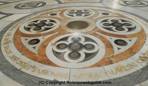 Intarsio marble floor of the cathedral
