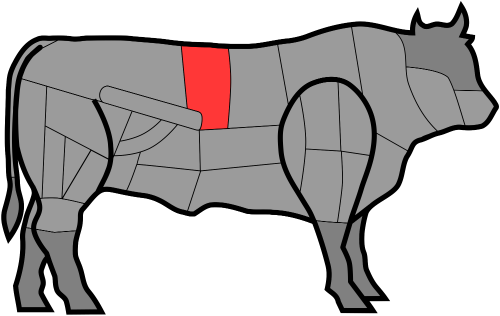 Part of Chianina cow used for the Florence steak