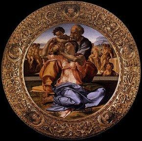 Uffizi Gallery Florence - Michelangelo Tondo Doni