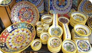 Florence and Deruta Ceramics - variety of Deruta ceramics at the shop Florentia