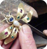 Florence Shopping - Gold Jewelery - OroDue closeup piece