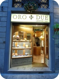 Florence Shopping - Gold Jewelry - OroDue storefront