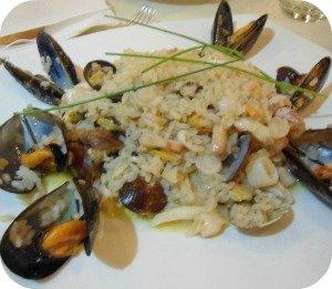 risotto with fish at Il Portale