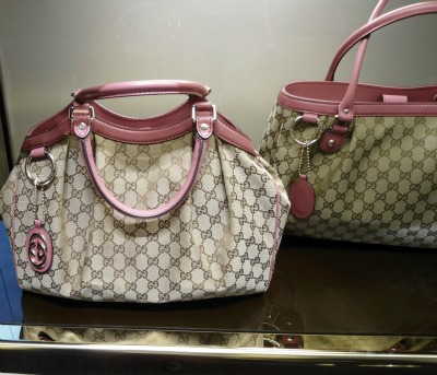 Gucci bags at a Florence mall