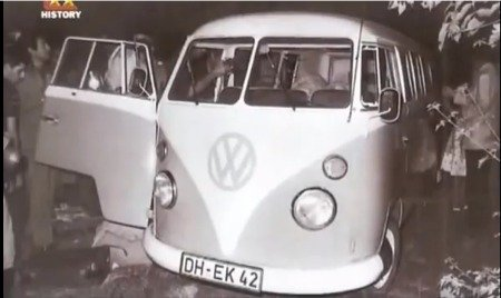 The VW camper van the German tourists were sleeping in