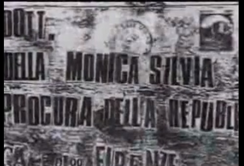 The envelope sent to the Police by the Mostro
