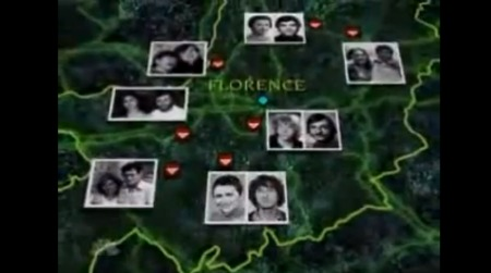 A map of locations and victims starting in 1974