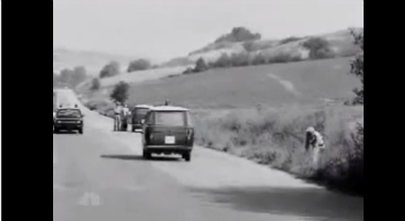 The road in Baccaiano where Paolo Mainardi managed to try to escape
