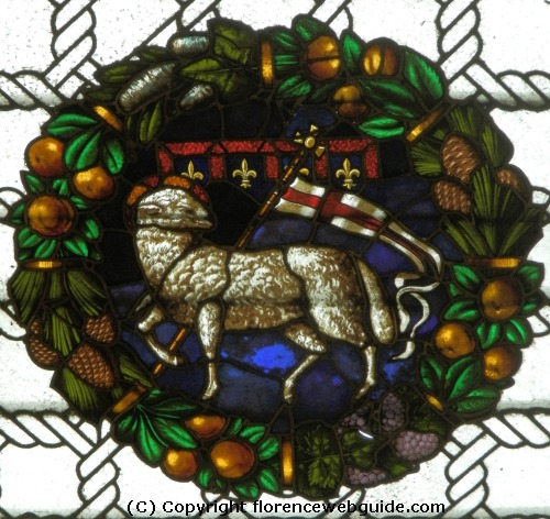 Symbol of the OPA, Opera del Duomo, the Holy Lamb - the OPA oversee all the Florence cathedral works