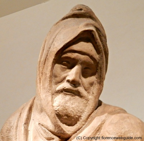 Close up of Nicodemus, a self-portrait of Michelangelo