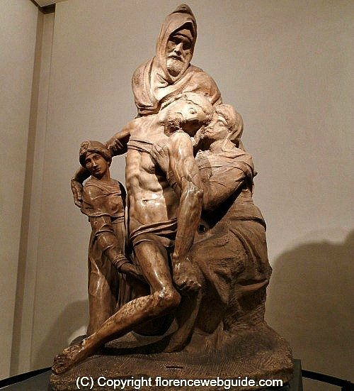 Michelangelo's Pieta at the Opera del Duomo museum, the maestro sculpted this work for his own tomb