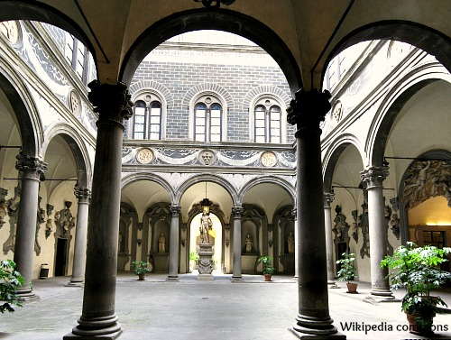 Courtyard of Medici Palace designed by Michelozzo