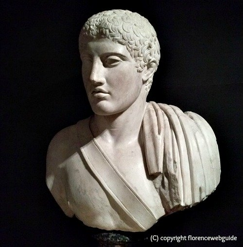 Marble sculpture gallery has an impressive collection of busts