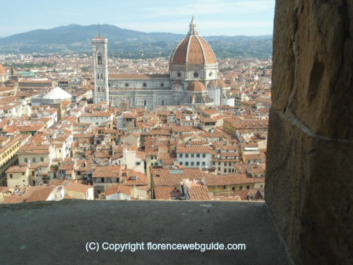 the Florence Cathedral from the Palazzo Vecchio tower