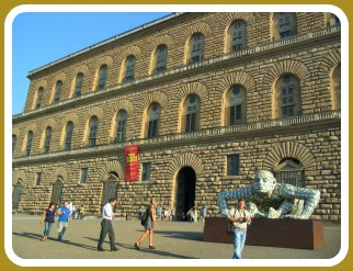 Florence Museums - Pitti Palace facade