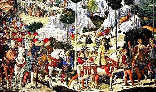 Procession of the Magi by Benozzo Gozzoli in the Cappella dei Magi