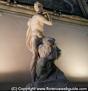 Palazzo Vecchio in Florence is home to Michelangelo's 'Victory'
