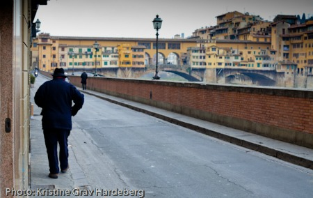 A winter morning near Ponte Vecchio